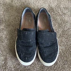 TOMS Flat Sneakers - Black Tweed